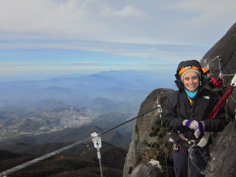Rebecca at Mount Kinabalu